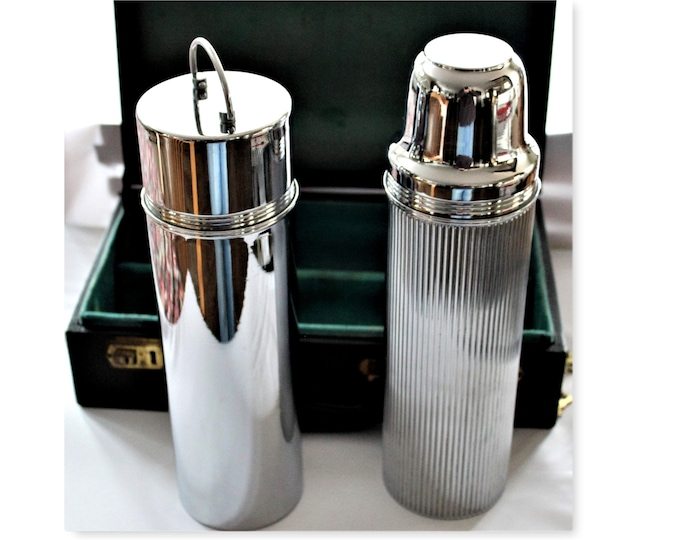 Antique Travel Thermos Set in Case, 1917 Thermos Travel Set