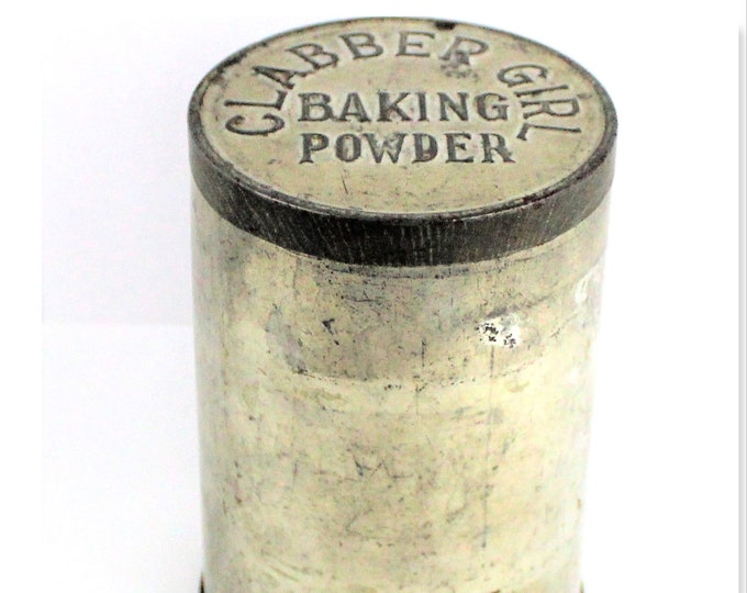 Vintage Clabber Girl Tin, Baking Powder Tin