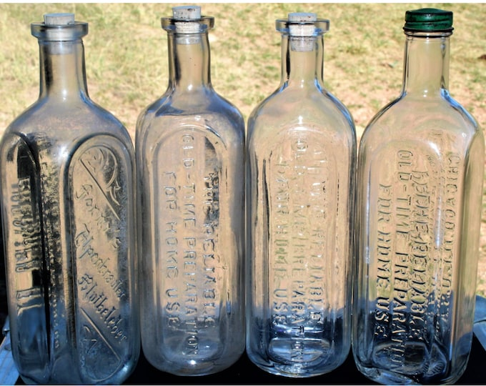 Collection of Antique Apothecary Bottles, Medicine Bottle