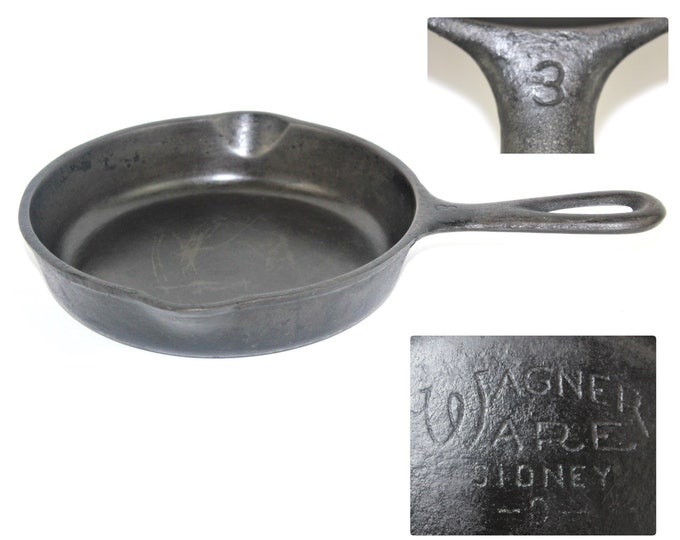 Cast Iron Cooking / Vintage Egg Pan /  Wagner Ware Cast Iron Skillet / #3 - 1053J