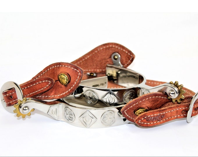 Western Memorabilia / Western Spurs with Leather Straps / Western Decor