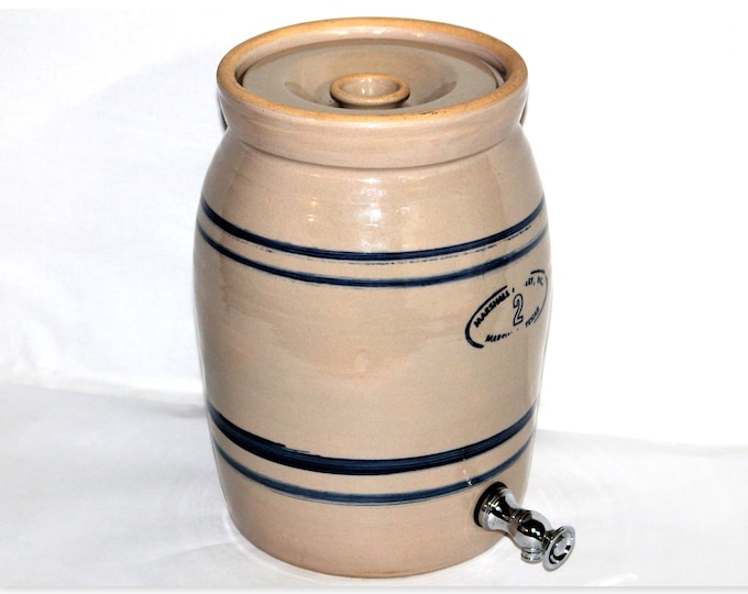 Vintage Marshall Pottery Two Gallon Water Cooler, Water Crock