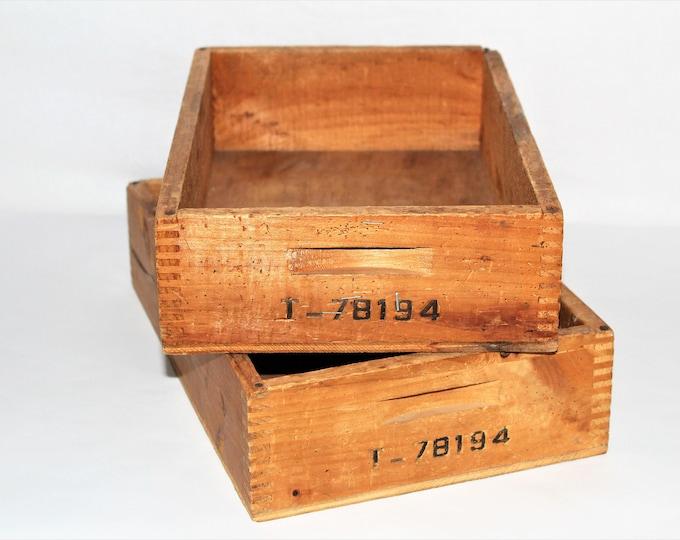 Vintage Industrial, Wood Crates, Wood Storage Bins