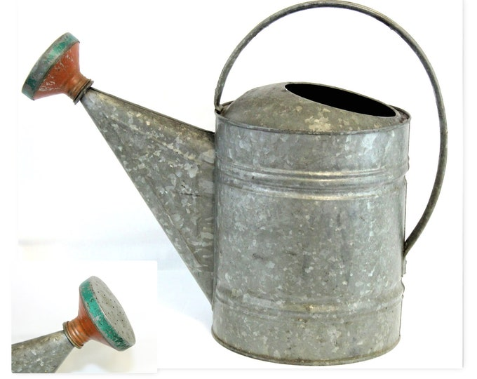 Vintage #12 Galvanized Watering Can