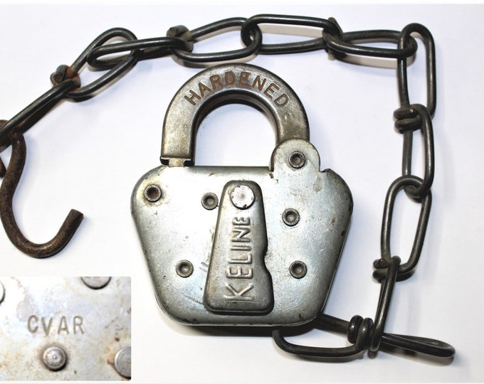 Railroad Memorabilia, Central Valley AGs Railroad Switch Lock, (CVAR), Keline Switch Lock