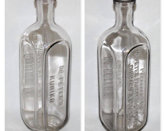 Antique Dr. Peters Kuriko Medical Bottle,  Dr. Peters Fahrney & Sons Co