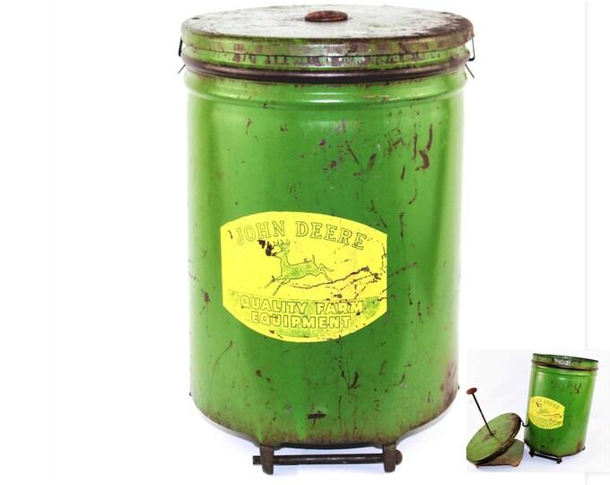 Vintage John Deere / John Deere / Corn Planter / Seed Hopper / Farmhouse Decor
