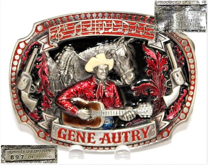 Vintage Western Belt Buckle / SMKW belt buckle / Gene Autry / #897 of 10000 / Western Memorabilia