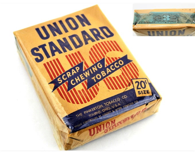 Vintage Union Standard Scrap Chewing Tobacco