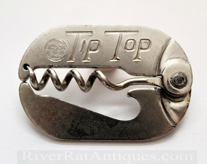 Vintage Williamson Tip Top Folding Pocket Style Corkscrew & Bottle Opener