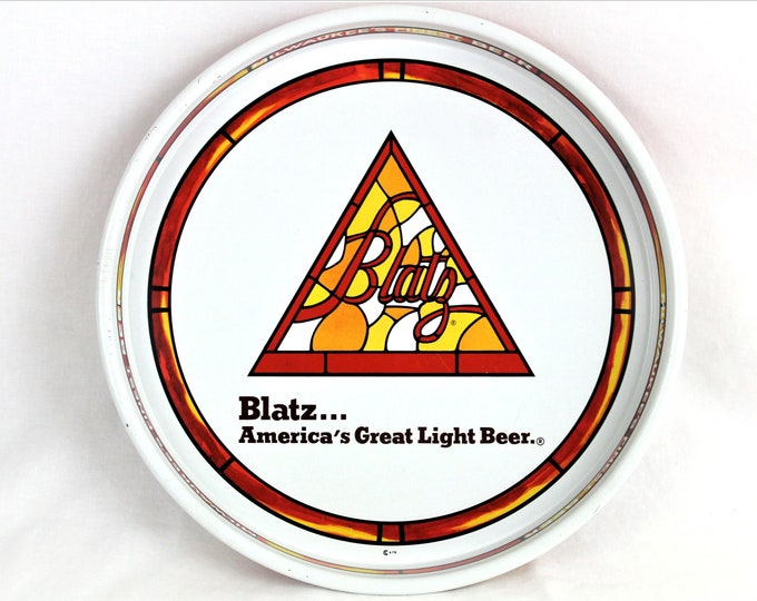 Vintage Blatz Brewing Company Beer Tray, Collectible Breweriana Gift