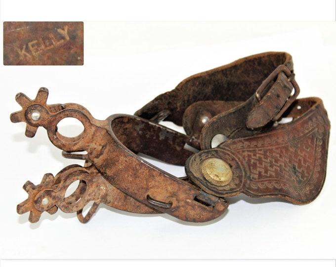 Western Memorabilia / Antique Kelly Spurs / Western Spurs / Cowboy Spurs