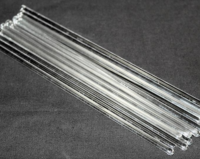 Glass Stirring Sticks, 8 Inch Long, Cocktail Stirring Sticks, Martini Stir Sticks