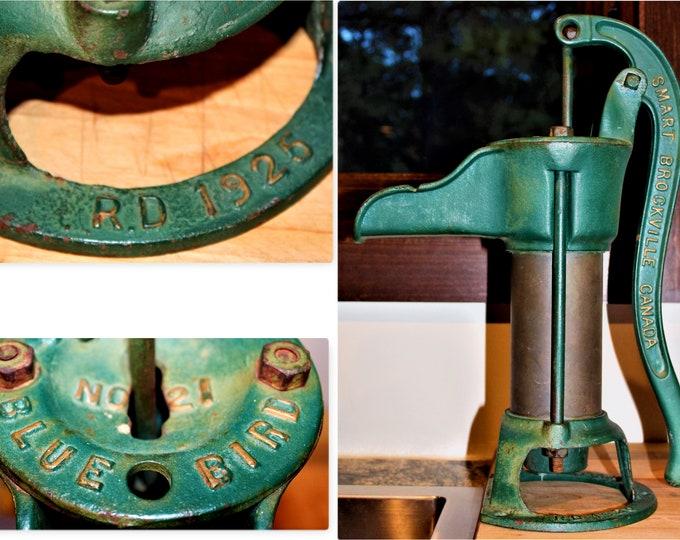 Antique 1920s, Kitchen Water Pump, Smart No. 21 Blue Bird Pump, Farmhouse Pump
