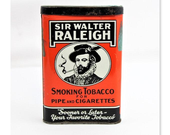 Vintage Sir Walter Raleigh Smoking Tobacco Tin