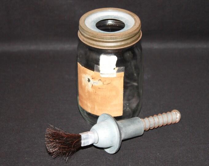 Vintage Craft Tool / Glue Pot / Craft Supplies / Glue Applicator
