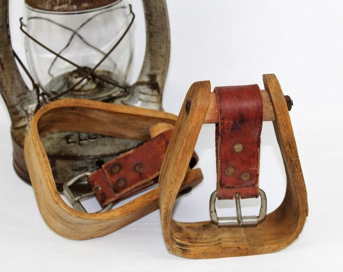 Rustic Western / Western Memorabilia / Wood Stirrups / Western Decor