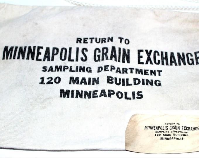 Vintage 1950s Grain Bag from the Minneapolis Grain Exchange, Sample Bag