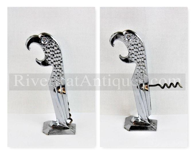 Vintage Corkscrew, 1930s Polly Parrot Corkscrew, NEGBAUR Corkscrew, Feather Version