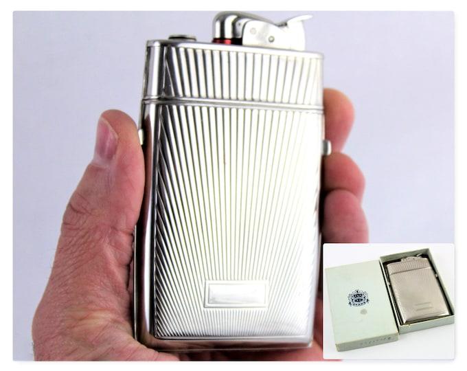 1940s Evans Lighter and Cigarette Case, Evans Spitfire