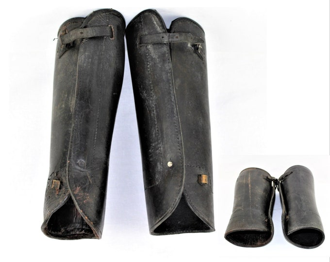 Western Memorabilia / Western Leather Leggings / Gaiters / Cowboy Wear