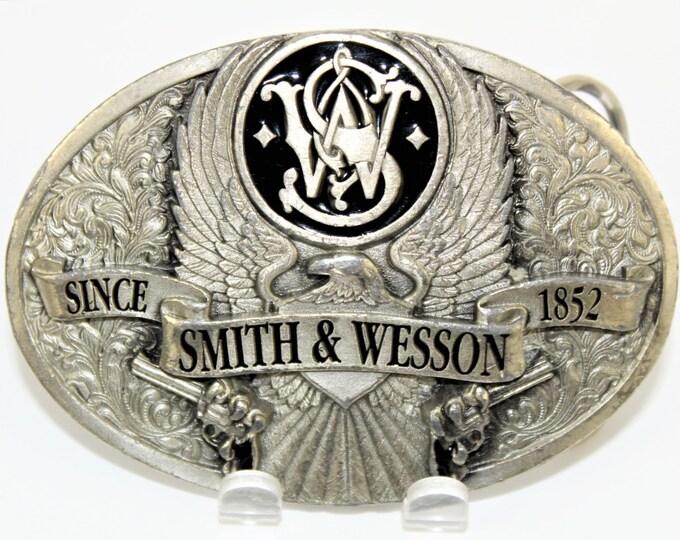 Vintage Mens Belt Buckle  / Bergamot Belt Buckle / Smith & Wesson Belt Buckle