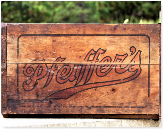 Antique Wood Crate / Pfeiffers Beer / Wooden Shipping Crate / Antique Breweriana
