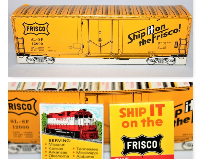 1950s Frisco Train Lines Advertising Box of 25 Matchbooks, Railroadiana