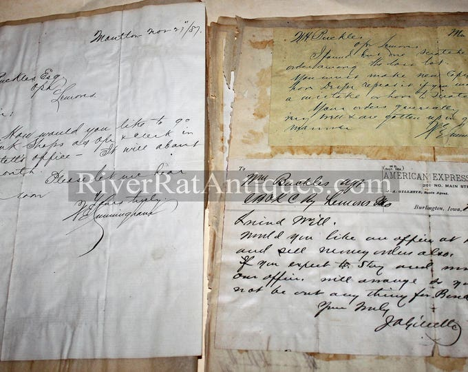 Antique 1880s Documents and Letters from Railroads and Railways