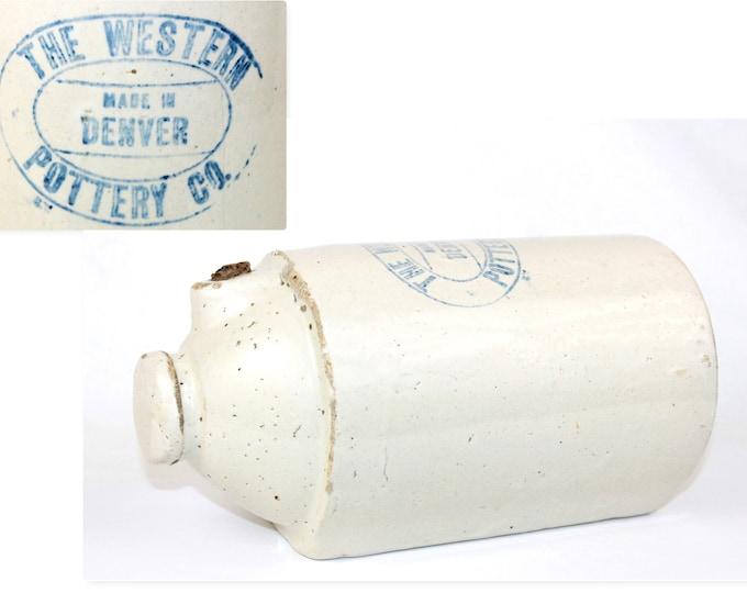 Antique 1920s Western Pottery Co. Denver Colorado, Bed Warmer