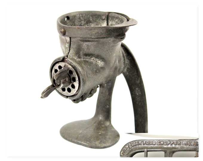 Antique Kitchen Tool / Rollman Food Chopper / No 12 / Rustic Kitchen Decor