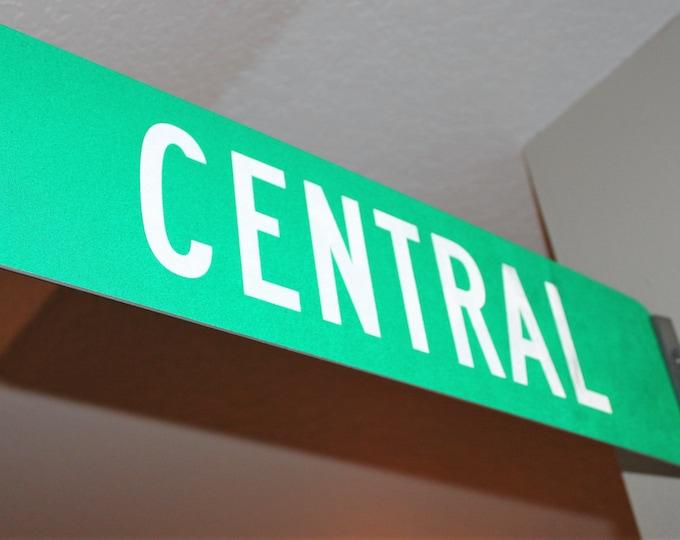 Vintage Central Street Signs