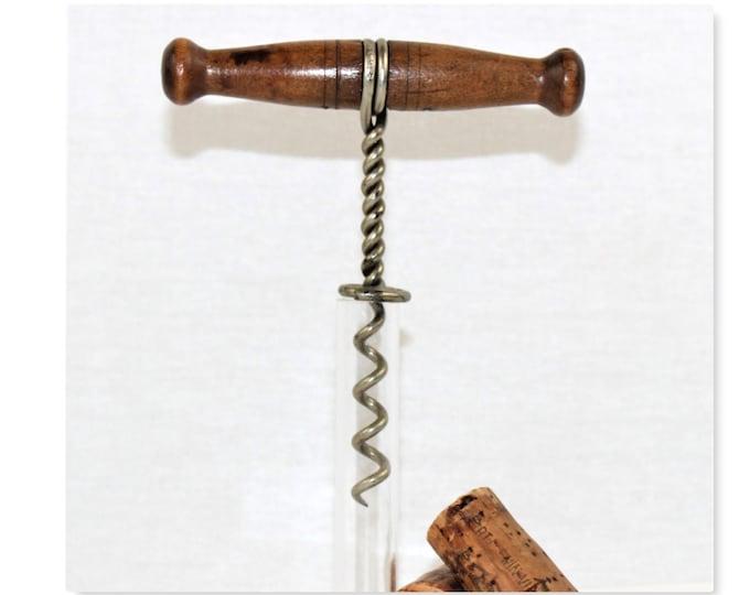 Antique 1887 Williamson's Wire Corkscrew, Wine Bottle Opener