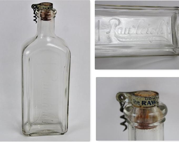 Antique Rawleighs Medicine Cork Bottle and a Rawleigh Corkscrew