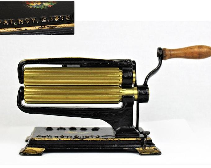 Antique 1875, Hand Crank Fluting Machine, Victoria Seamstress Tool