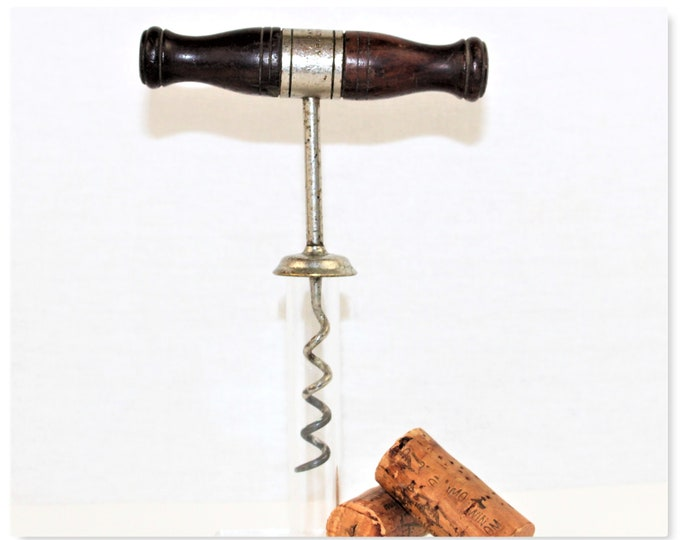 Antique 1880s American Designed Edward Haff Corkscrew, Wine Bottle Opener