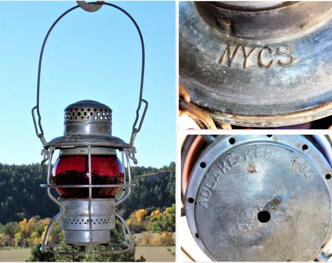 Vintage Adlake Kero Railroad Lantern from the N.Y.C.S. New York Central System Railroad, Railroadiana