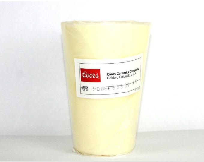 Rare New Old Stock, Coors Ceramics Co, 65521 High-Alumina High Form Crucible, 500mL Capacity