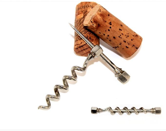 Antique Corkscrew, Octagon Tipped, Peg and Worm Corkscrew, Wine Bottle Opener