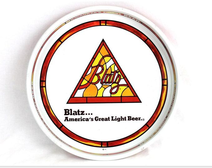 Vintage Blatz Brewing Company Beer Tray, Breweriana Gift