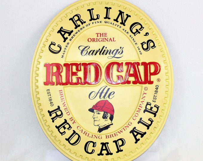 Vintage Carling's Red Cap Ale Sign, Breweriana Sign