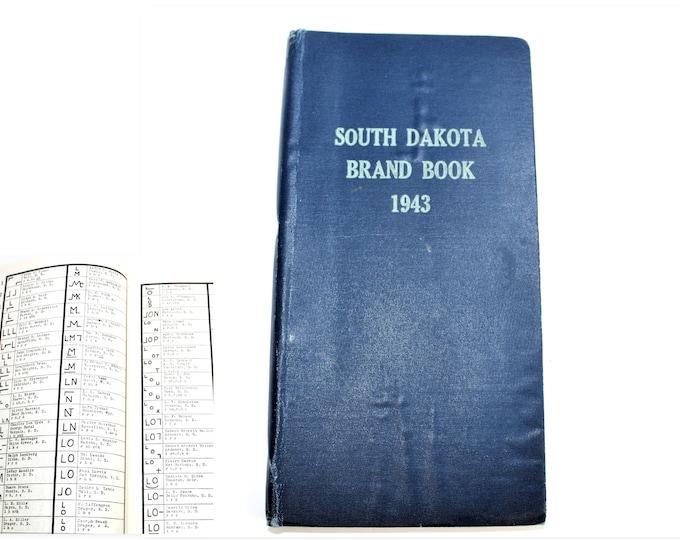 1943 South Dakota Brand Book, Livestock Brand Book, Cattle Brand Book