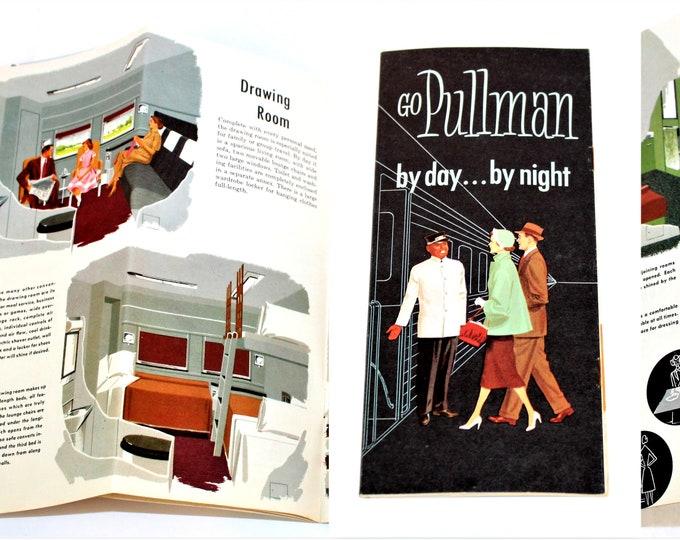1957 Pullman Rail Car Brochure, Traveling by Train, Railroadiana