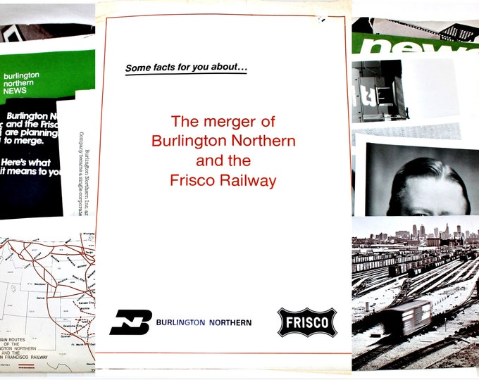 1980 Burlington Northern and the Frisco Railway Merger Documents, Railroadiana