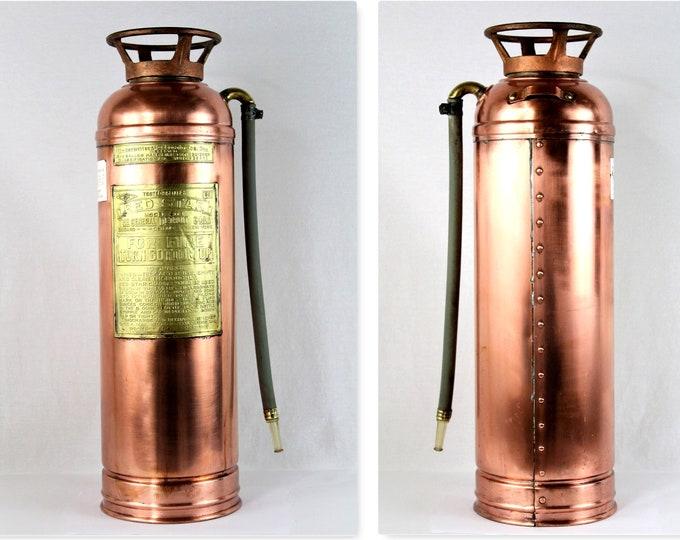 Vintage Red Star Fire Extinguisher, Firefighting Memorabilia, Fire Memorabilia