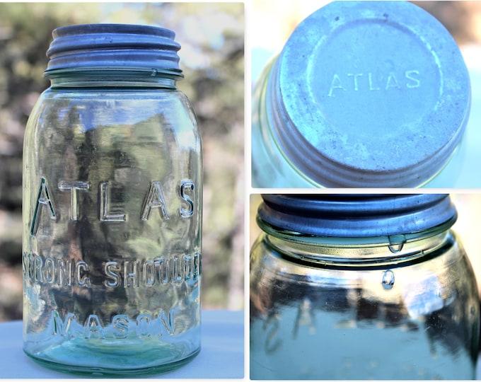 Atlas Strong Shoulder Mason, Fruit Jar, Canning Jar, Home Canning
