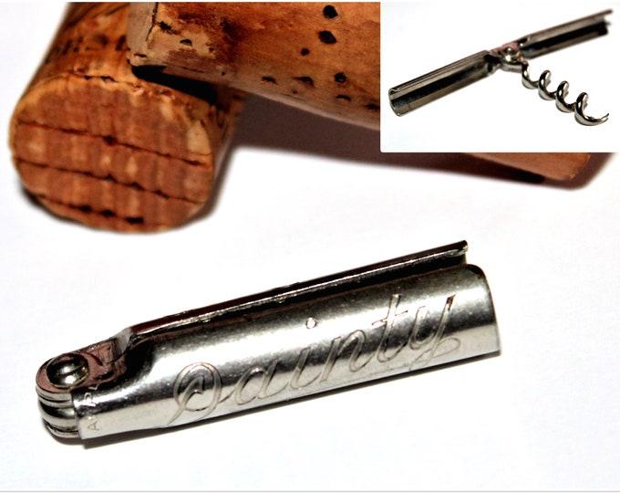 Antique Dainty Folding Corkscrew, Miniature Corkscrew