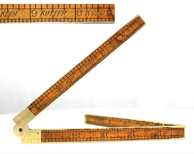 Antique Keen Kutter K620, 24 inch Folding Rule, Simmons Hardware Co
