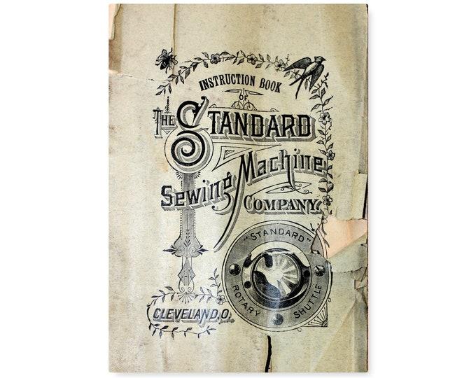 RARE 1890s Original Edition Standard Rotary Shuttle Sewing Machine Manual