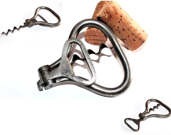 Antique German Multi-Tool Folding Bow, Corkscrew and Cap Lifter, Wine Bottle Opener
